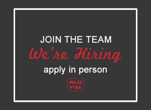 Maru Sushi & Grill Restaurant in Ozark, MO now hiring